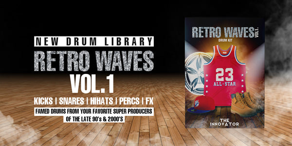 Retro Waves Vol.1 Drumkit. The Famed Drums and Sounds From Your Favorite Super Producers Of The Late 90's and 2000's. Throwback drum kit to the year 2000 and above