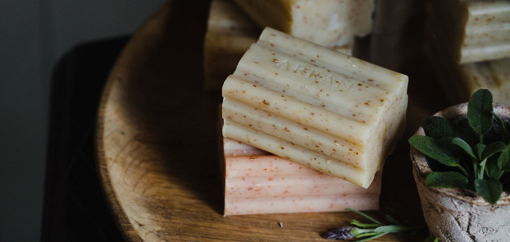 Gently exfoliate with our Honey & Oatmeal Soap, £4