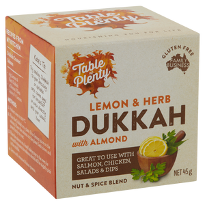 Table of Plenty All Natural Gluten Free Lemon Herb Dukkah (45g) - mrs-free-singapore