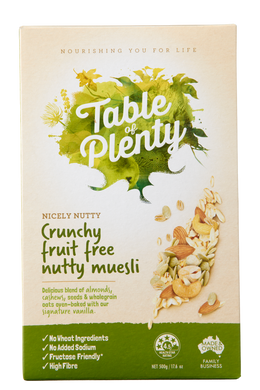 Table of Plenty Crunchy Fruit Free Nutty Muesli (500g) - mrs-free-singapore