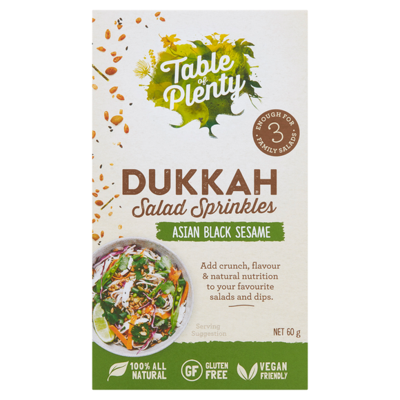 Table of Plenty All Natural Gluten Free Asian Black Sesame Dukkah Salad Sprinkles(60g) - mrs-free-singapore