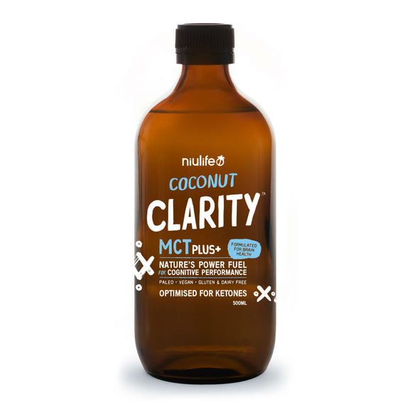 Coconut Clarity MCT Plus+ - 500ml Glass Bottle (Limited Time Only!) - mrs-free-singapore
