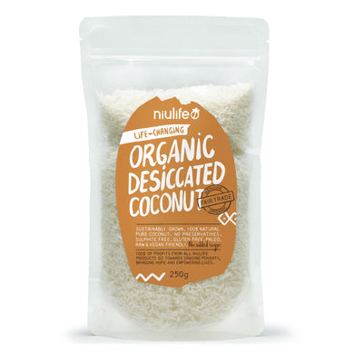 Desiccated Coconut - Certified Organic 250g Pouch - mrs-free-singapore