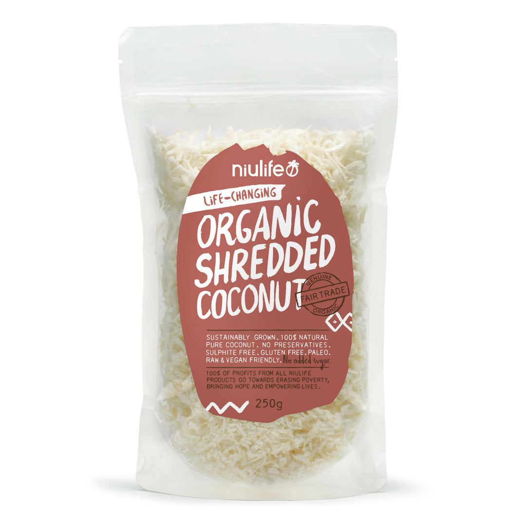 Shredded Coconut - Certified Organic 250g Pouch - mrs-free-singapore