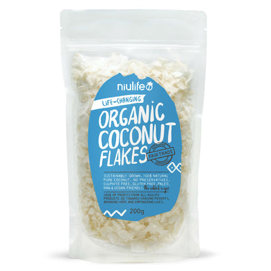 Coconut Flakes - Certified Organic 200g Pouch - mrs-free-singapore