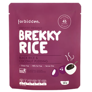 Forbidden Foods Organic Black Rice and Coconut Breakfast Pudding (Ready To Eat)(125g) - mrs-free-singapore