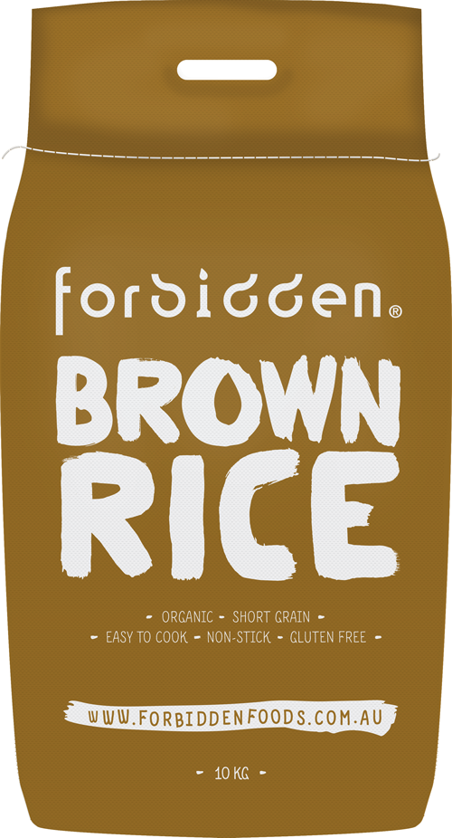 Forbidden Foods Organic Brown Rice (10kg)Packaging : White Gunny Sack and White Box - mrs-free-singapore