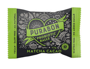 Purabon Matcha Cacao Probiotic Ball (43g) - mrs-free-singapore