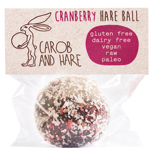 Carob And Hare - Hare Ball (Cranberry) (Carob Based Snack)(30g when packed)