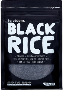 Forbidden Foods Organic Black Rice (Non-GMO) (500g)