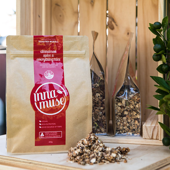Inna Muse Cinnamon Spice And Everything Nice Muesli (400g) - mrs-free-singapore