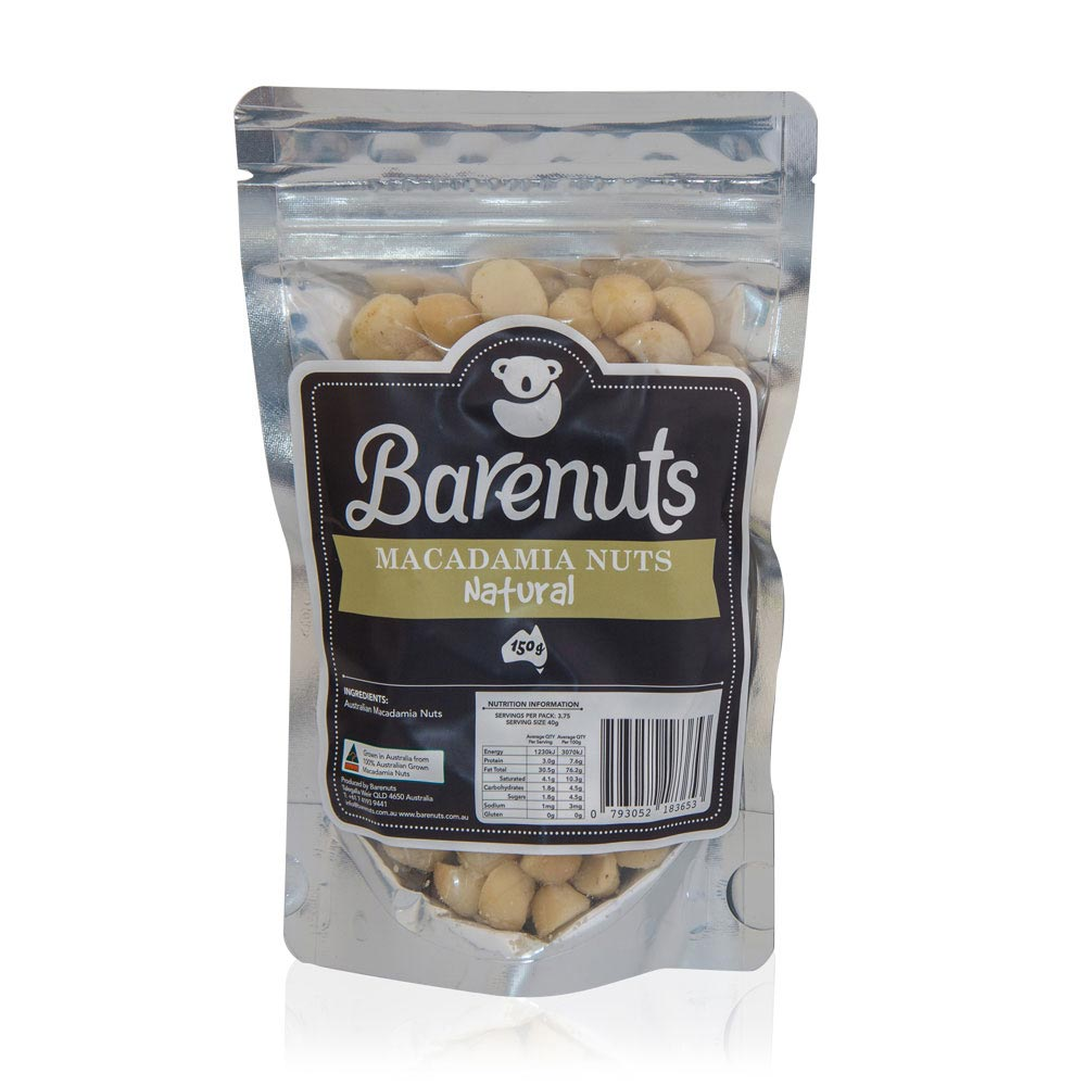 Barenuts Natural Macadamias (150g) - mrs-free-singapore