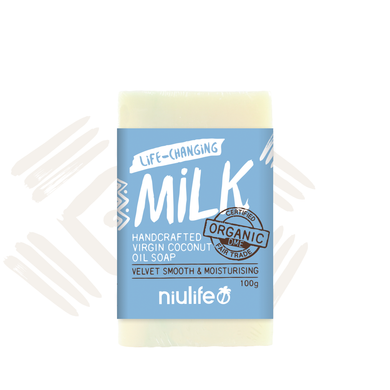 Niulife Milk - Virgin Coconut Oil Soap 100g - NASAA Approved Cosmetic - mrs-free-singapore