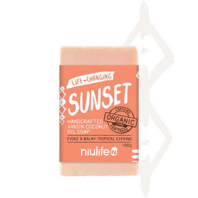 Sunset - Virgin Coconut Oil Soap 100g - NASAA Approved Cosmetic - mrs-free-singapore