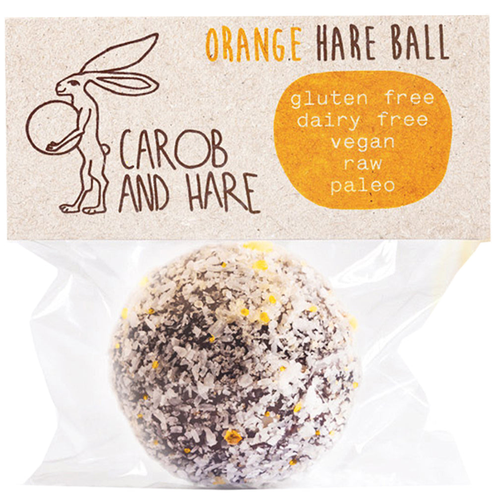 Carob And Hare - Hare Ball (Orange) (Carob Based Snack)(30g when packed) - mrs-free-singapore