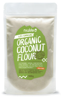 Niulife Organic Coconut Flour In Pouch (500g) - mrs-free-singapore