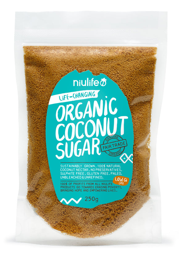 Coconut Sugar - Certified Organic 250g/500g Pouch - mrs-free-singapore