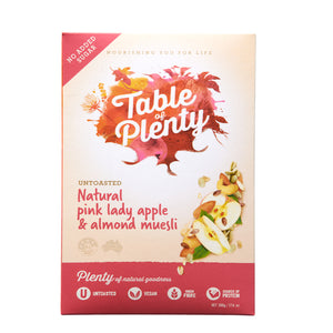 Table of Plenty Natural Pink Lady Apple Muesli (500g) - mrs-free-singapore