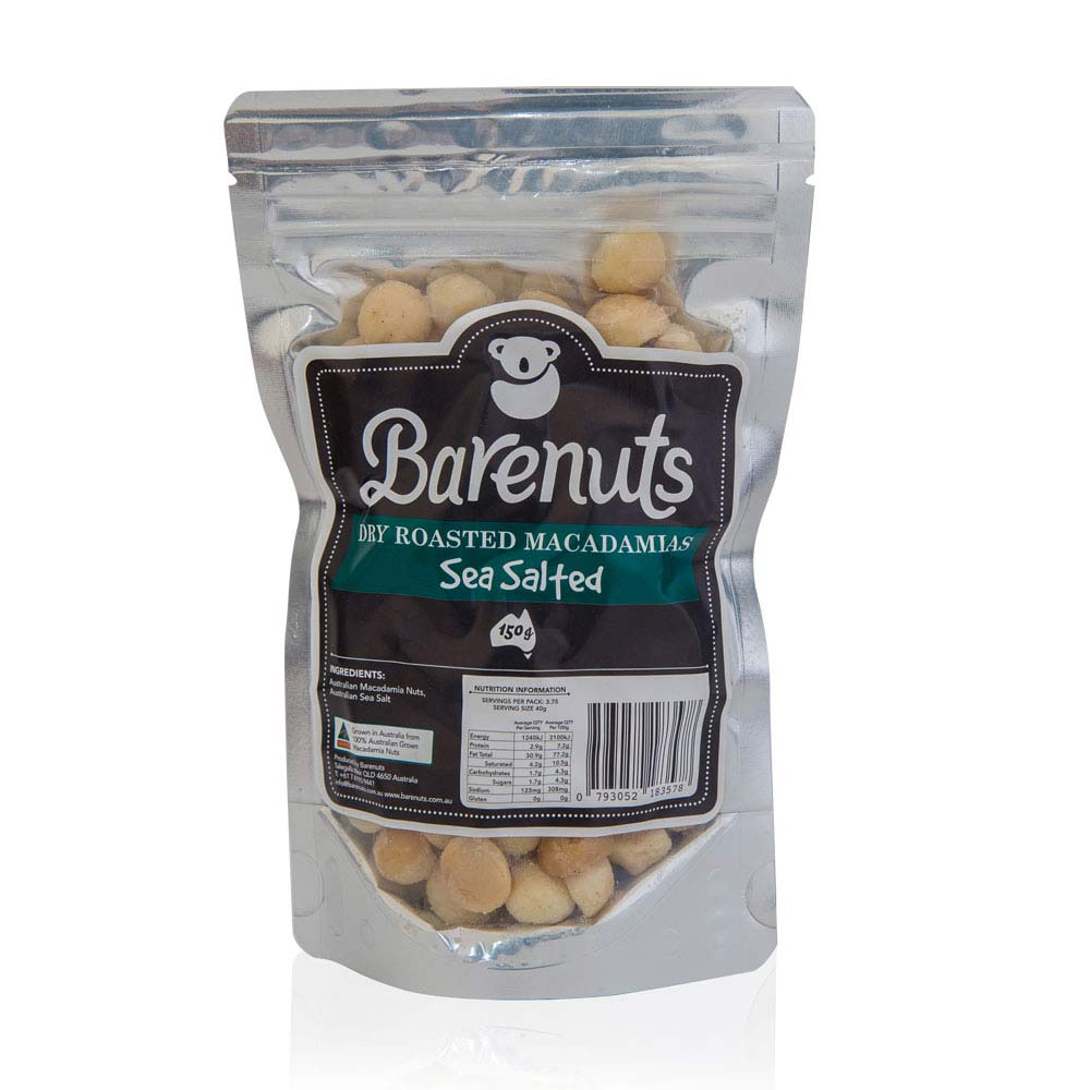 Barenuts Sea Salted Macadamias (150g) - mrs-free-singapore