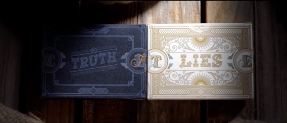 Truth And Lies Playing Cards, Set.  (PREORDER)