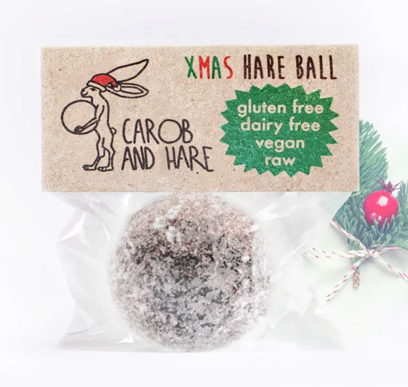 Carob And Hare - Hare Ball (Xmas Limited Edition) (Carob Based Snack)(30g when packed) - mrs-free-singapore