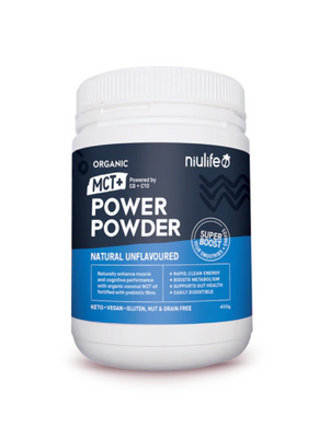 Organic MCT+ Power Powder - Natural Unflavoured (400g) - mrs-free-singapore