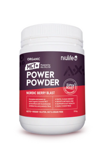 Organic MCT+ Power Powder - Nordic Berry Blast (350g) - mrs-free-singapore