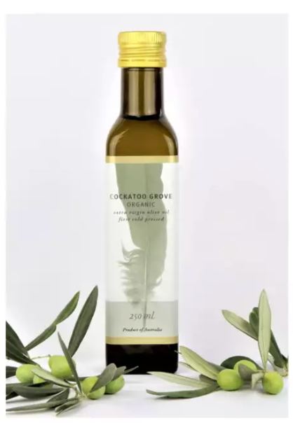 Cockatoo Grove Organic 100% Australian EVOO (First Cold Pressed) (250ml) (Single Estate)