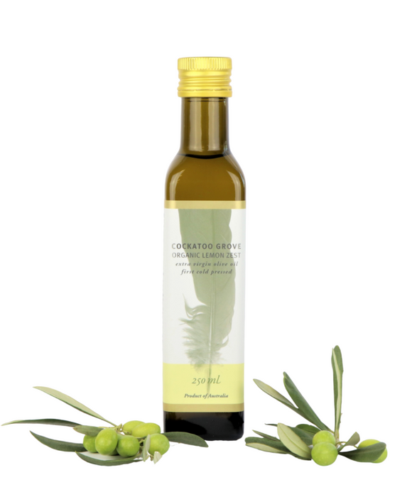 Cockatoo Grove ORGANIC Australian Lemon Zest EVOO (First Cold Pressed) (250 ml) (Single Estate)