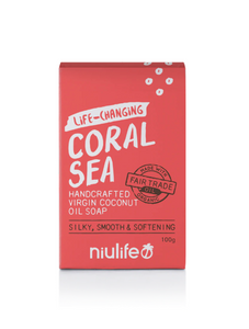 Niulife Virgin Coconut Oil Soap - Coral Sea (100g) - NEW!