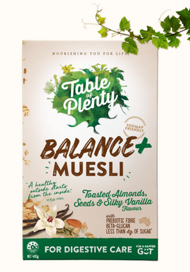Table of Plenty Balance+ Low FODMAP Fruit Free Muesli (400g) NEW!