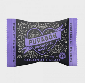 Purabon Coconut Cacao Probiotic Ball (43g) (Indiv/ box of 12)