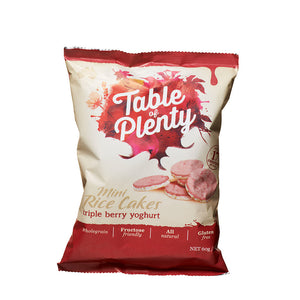 Table of Plenty Triple Berry Yoghurt Mini Rice Cakes (60g) - mrs-free-singapore