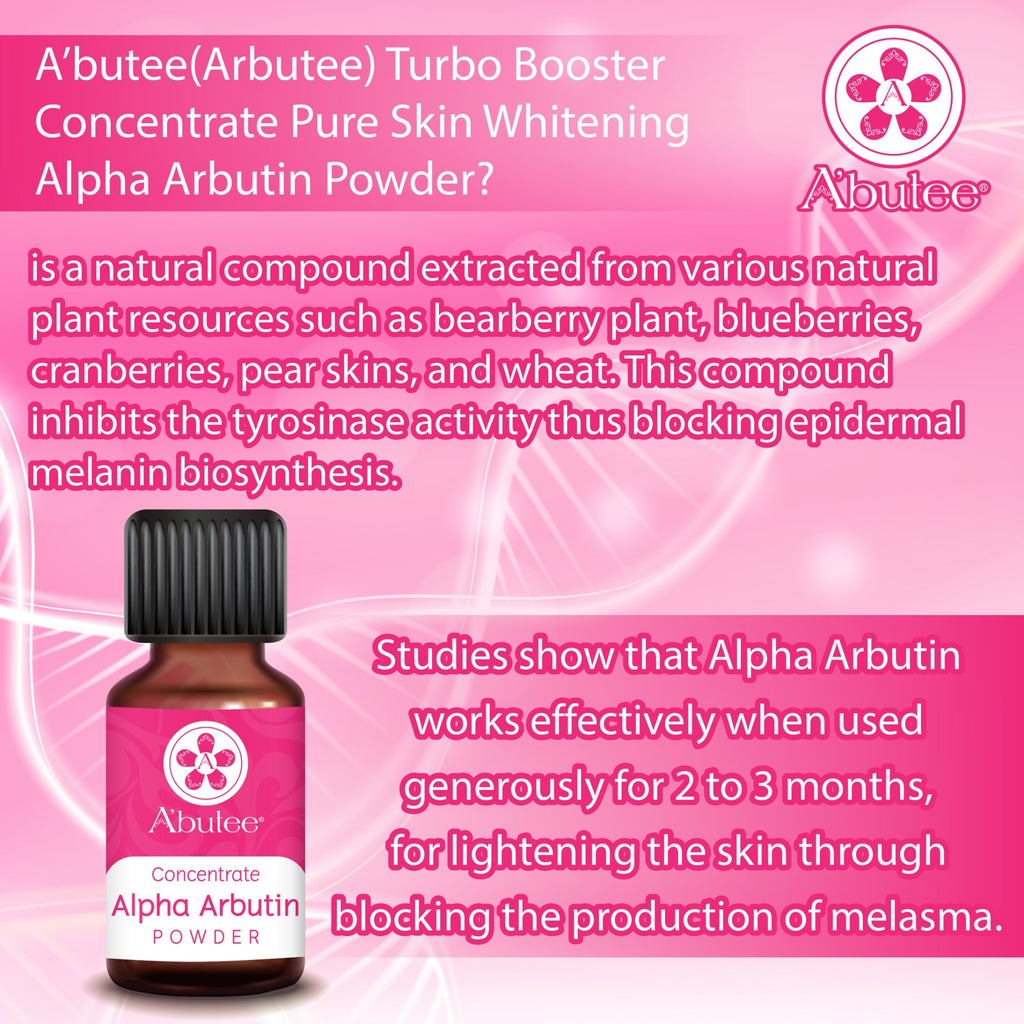 A'butee Turbo Booster Concentrate Pure Skin renewal Powder(5g/0.18oz-Pack of 1) (Alpha Arbutin Powder)