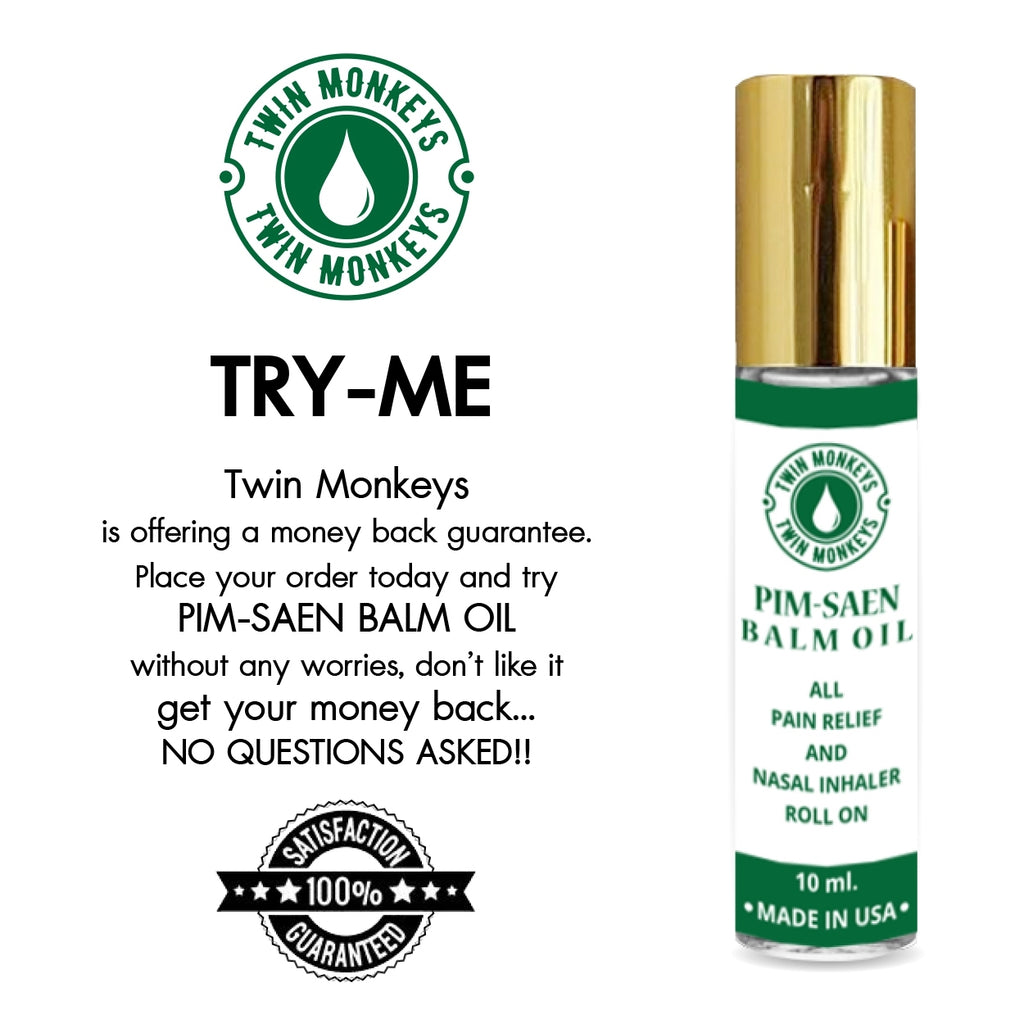 TWIN MONKEYS | Pure PIM-SAEN Aromatherapy Menthol Nasal Inhaler Balm Oil