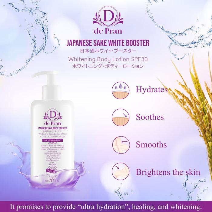 Japanese Sake White Booster Whitening Body Lotion SPF30