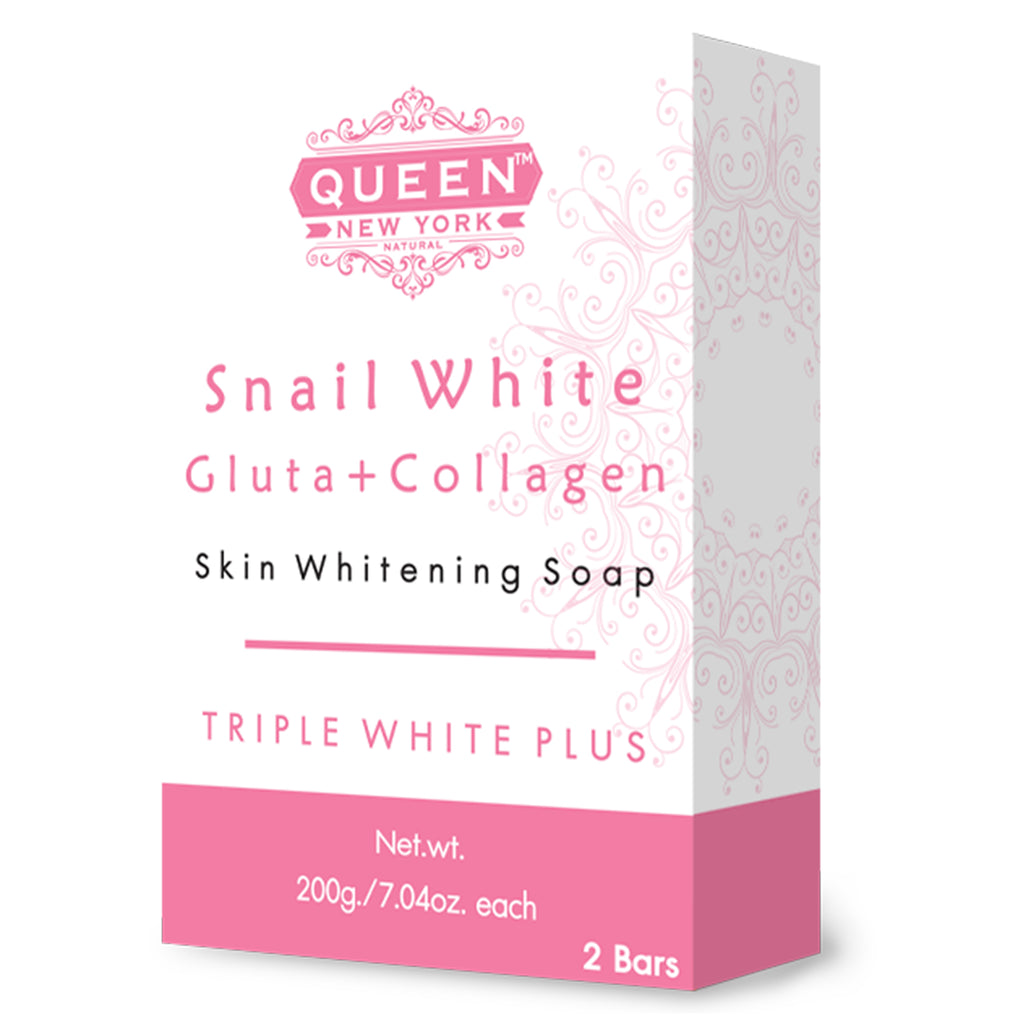Pack of 2 Bars | Snail White Gluta+Collagen | QUEEN Natural Skin Whitening Whipp Soap