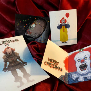 A Very IT XMAS with Pennywise! 2017 & 1990 Version Cards & Ornaments!