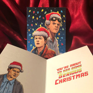 "Back to the Future Xmas! ""You're About to See Some Serious Christmas"" PLUS 3 Ornaments!"