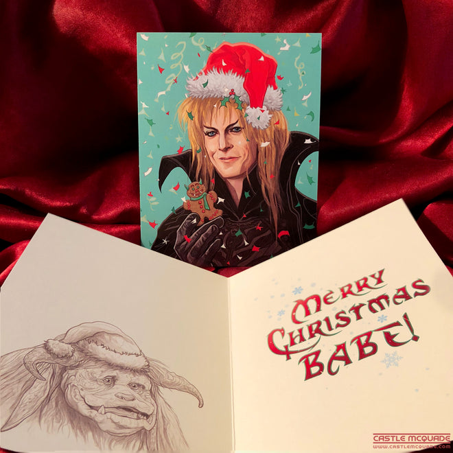 "XMAS in the LABYRINTH! ""Merry Christmas Babe"" PLUS 4 Ornaments!"