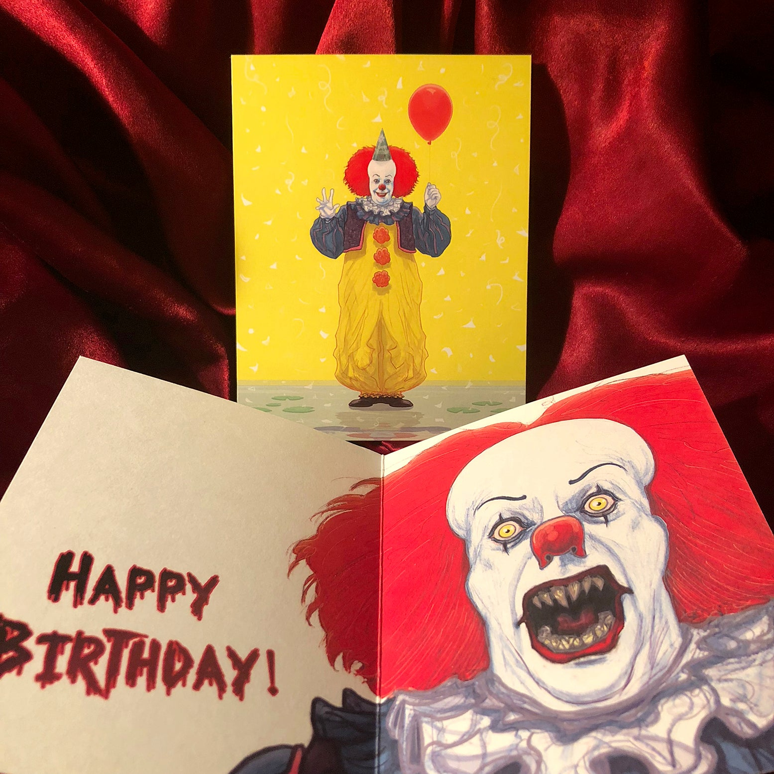 IT Pennywise BIRTHDAY CARD!