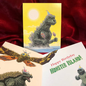 GODZILLA Birthday Card!