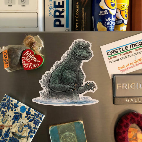 GODZILLA Water Fridge MAGNET!