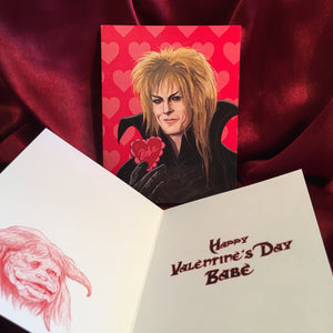 JARETH Labyrinth VALENTINE'S DAY Card