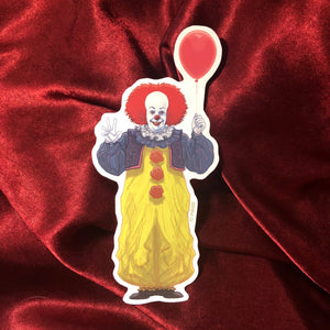 PENNYWISE IT Red Balloon STICKER!