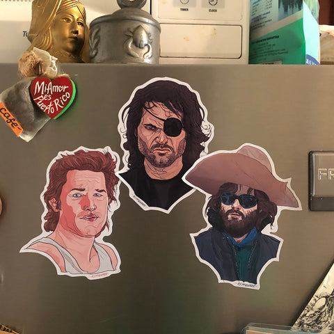 KURT RUSSELL 3 Pack Fridge Magnet COMBO!