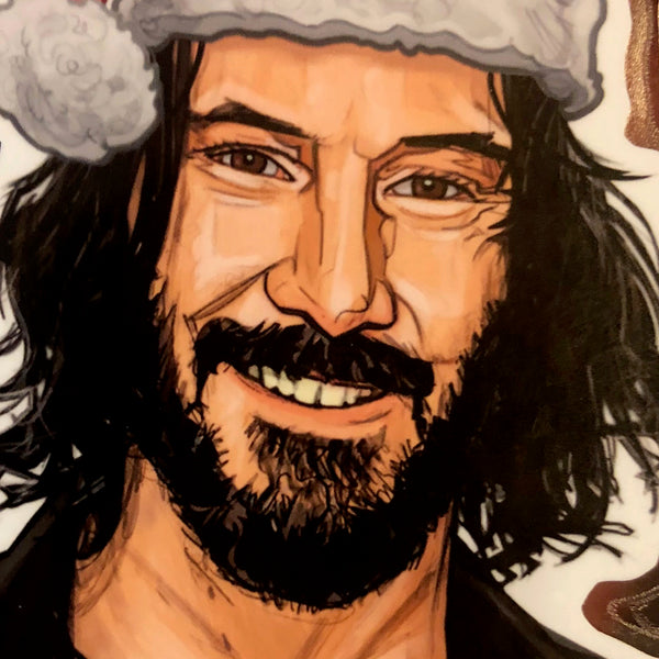 KEANU REEVES Christmas Ornament!