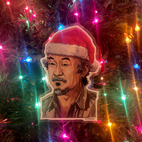 Mr. Miyagi KARATE KID Christmas Ornament!