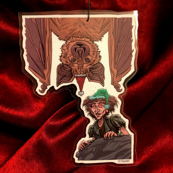 Nighthob and Sleepy Bat THE NEVERENDING STORY Christmas Ornament!