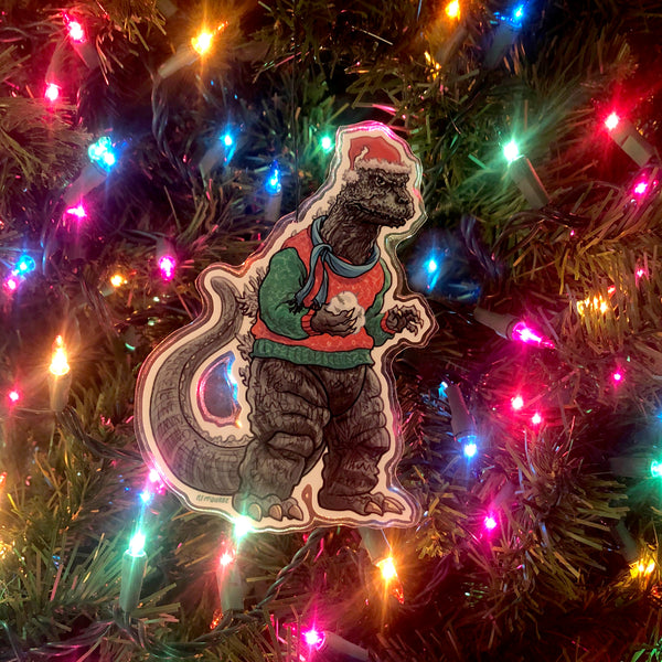 GODZILLA Christmas ORNAMENT!